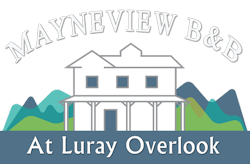 Luray VA Bed & Breakfast Mayneview at Luray Overlook