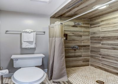 Shenandoah Room Shower at the Mayneview in Luray VA