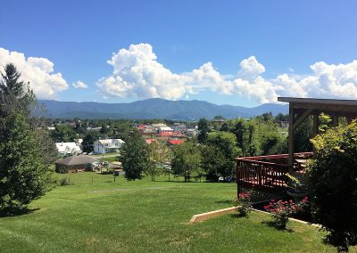 View of Downtown Luray from Mayneview Bed and Breakfast